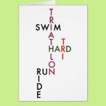 Triathlon Tri Hard Card