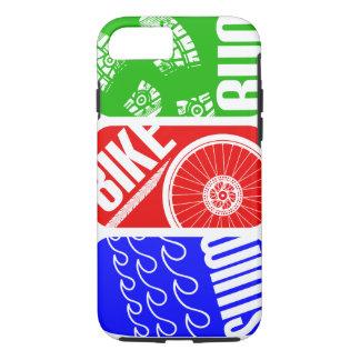 Triathlon TRI Swim Bike Run iPhone 7 Case