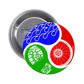 Triathlon TRI Yin Yang 2 Inch Round Button