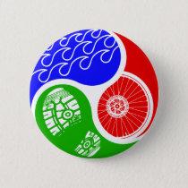 Triathlon TRI Yin Yang Button