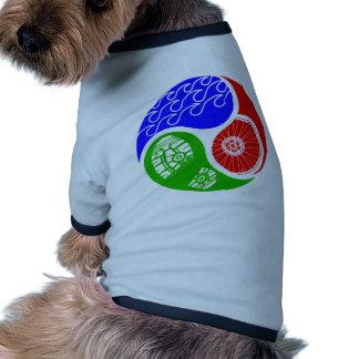 Triathlon TRI Yin Yang Camisetas De Mascota