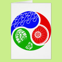 Triathlon TRI Yin Yang Card
