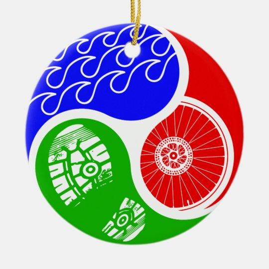 - Triathlon TRI Yin Yang Ceramic Ornament Zazzle.com