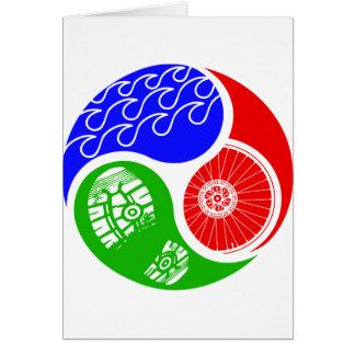 Triathlon TRI Yin Yang Greeting Card