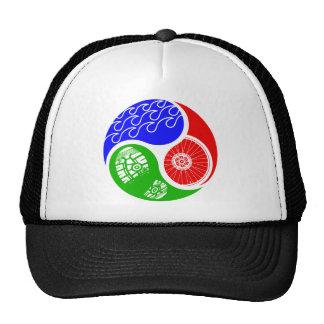 Triathlon TRI Yin Yang Trucker Hat
