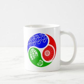 Triathlon TRI Yin Yang Classic White Coffee Mug