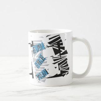 Triathlon Triathlete SWIM BIKE RUN White Abstract Coffee Mug