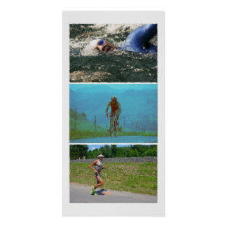 Triathlon Triptych - Painting Posters