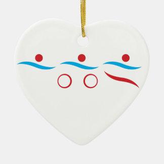 Triathlon unique gift ceramic ornament