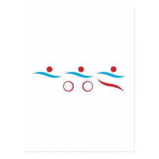 Triathlon unique gift postcard