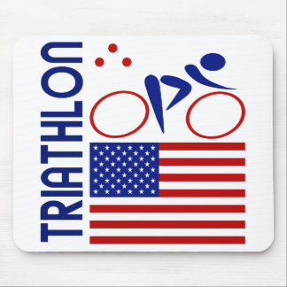 Triathlon United States Mouse Pad