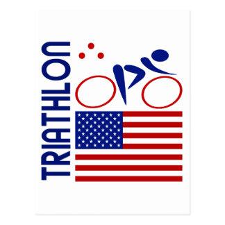 Triathlon United States Postcard