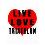 Triathlon vivo del amor tarjetas postales