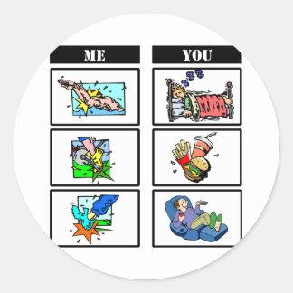 Triathlon vs. Sloth Stickers