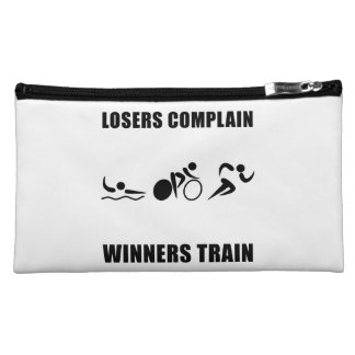 Triathlon Winners Train Makeup Bag