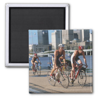 Triathloners Cycling 2 Inch Square Magnet