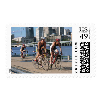 Triathloners Cycling Postage