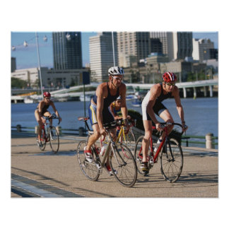 Triathloners Cycling Poster