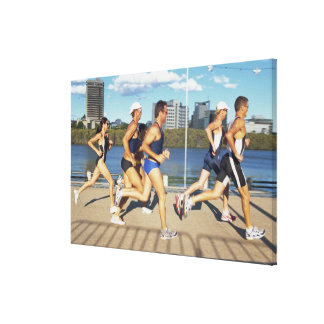 Triathloners Running 2 Canvas Print