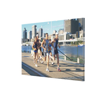 Triathloners Running 3 Canvas Print
