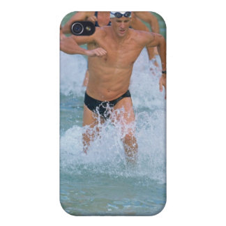 Triathloners Running out of Water 2 iPhone 4 Cases