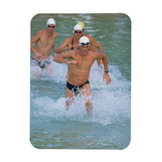 Triathloners Running out of Water 2 Rectangle Magnet