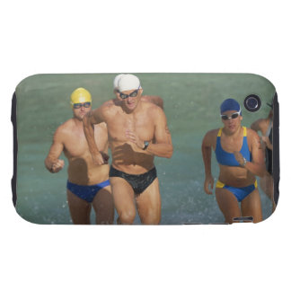 Triathloners Running out of Water 3 iPhone 3 Tough Cover