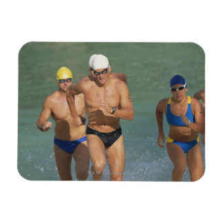 Triathloners Running out of Water 3 Vinyl Magnet