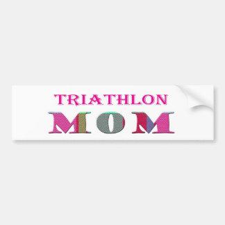 TriathlonMom Car Bumper Sticker