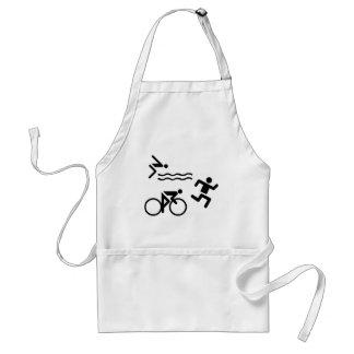 Triatholon - running swimming cycling adult apron