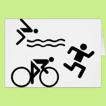 Triatholon - running swimming cycling card