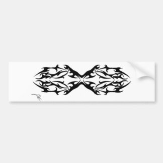 Tribal 1 car bumper sticker