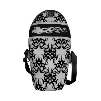 Tribal 2 BW Courier Bag