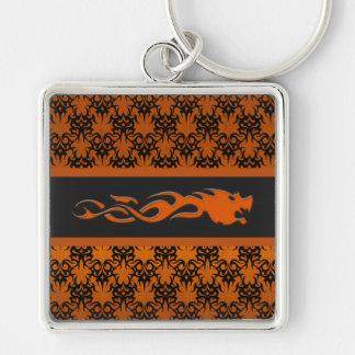 Tribal 2 orange keychain
