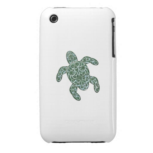 Tribal 3D Sea Turtle iPhone 3 Cover