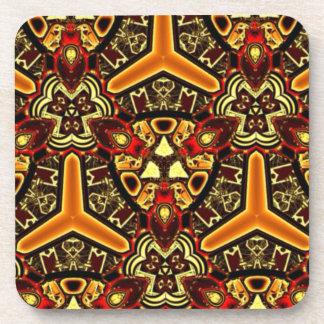 Tribal abstract designer luxury set of coasters