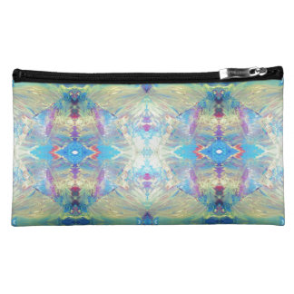 Tribal Abstract in Blue Cosmetic Bag