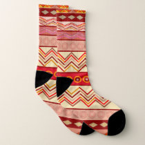 Tribal abstract pattern socks