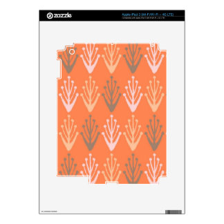 Tribal abstract primitive chevron branch Aztec Skin For iPad 3
