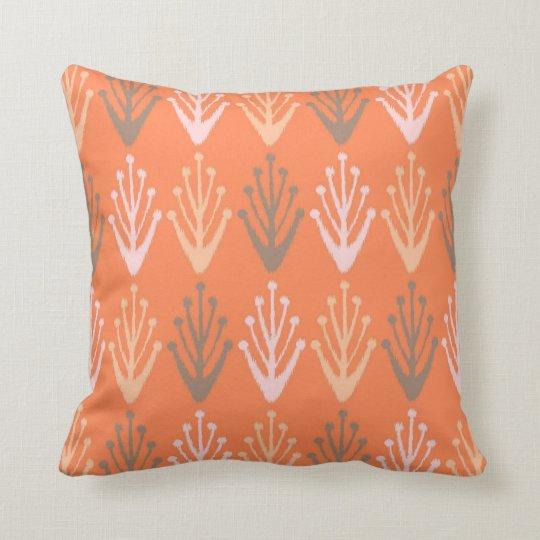Tribal abstract primitive chevron branch Aztec Throw Pillow