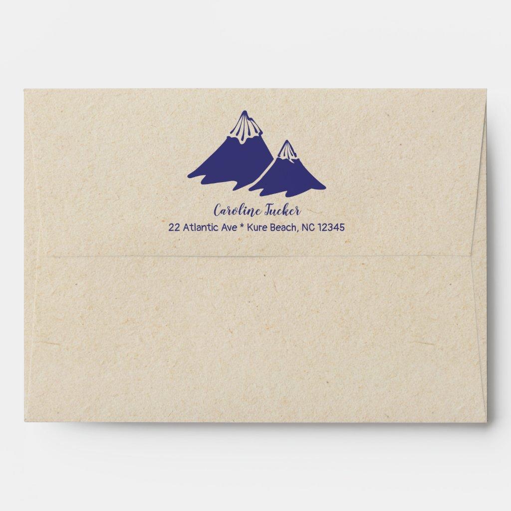 Tribal Adventure Baby Boy Shower Envelope