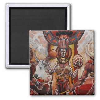 Tribal Affair 2 Inch Square Magnet