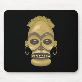 Tribal Africa (Safari): Traditional African Mask Mouse Pad
