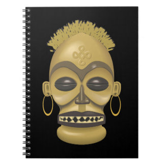 Tribal Africa (Safari): Traditional African Mask Spiral Notebook
