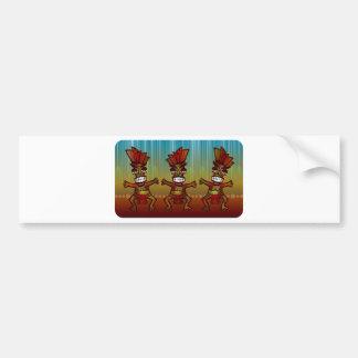 Tribal African Dance Bumper Stickers