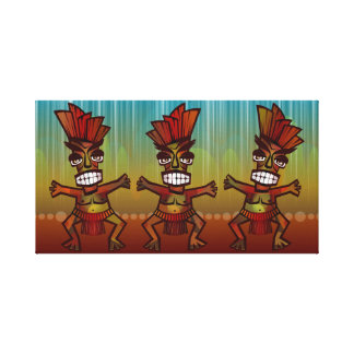 Tribal African Dance Canvas Print