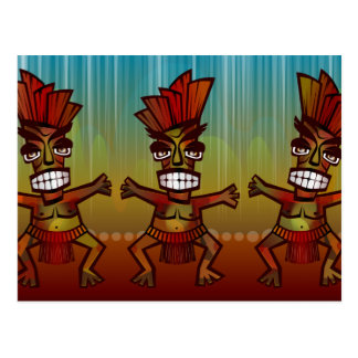 Tribal African Dance Postcard