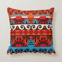 Tribal African Inspired Art Pattern Pillow