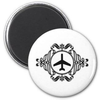 Tribal Airplane Magnet