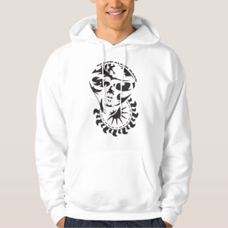 Tribal Alien with sun and crop circle Hoodie